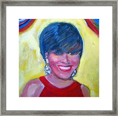 First Lady In Red Framed Print by Patricia Taylor