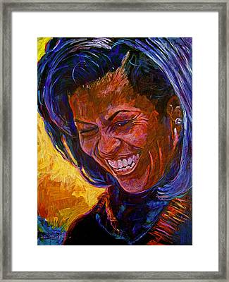 First Lady Michele Obama Framed Print by David Lloyd Glover