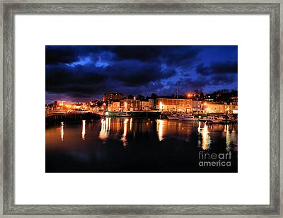 First Light At Padstow Framed Print by Carl Whitfield