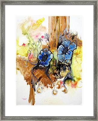 First Light In The Garden Of Eden II Framed Print by Shadia Zayed