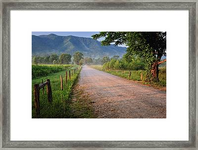 First Light - Sparks Lane At Cades Cove Tennessee Framed Print by Thomas Schoeller