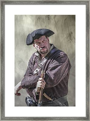 First Line Of Defense The Frontiersman Framed Print by Randy Steele