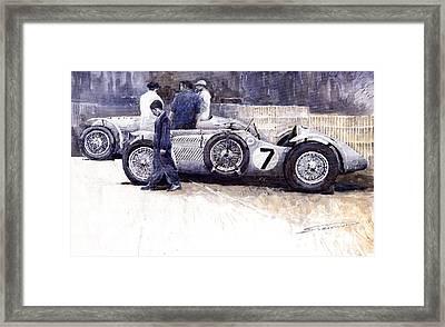 First Met Up Talbot Lago Le Mans 1950 Framed Print by Yuriy  Shevchuk