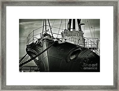 First Of Her Class. Last Of The Fleet Framed Print by Chris Cardwell