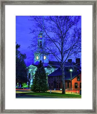 First Parish Church - Concord Ma Framed Print by Joann Vitali