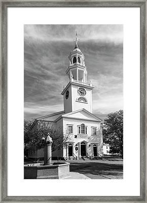 First Parish Church Framed Print by Mick Burkey