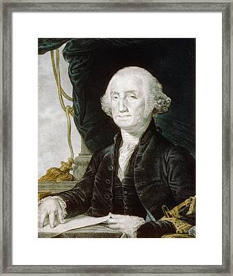 First President Of The United States Of America - George Washington Framed Print by International  Images