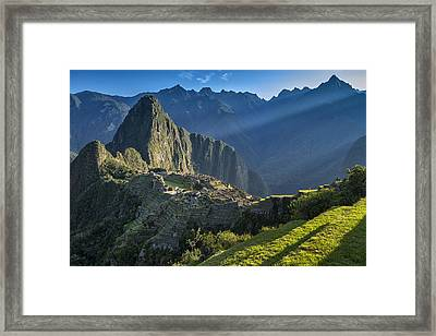 First Rays Framed Print by Christian Heeb