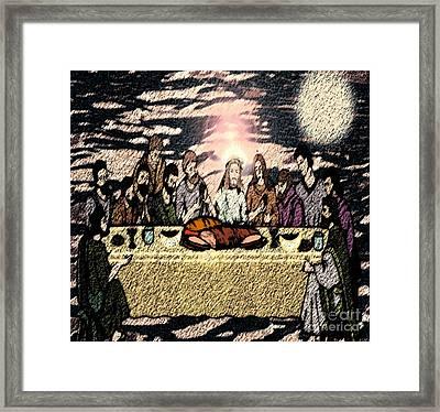 First Sacrament Framed Print by Belinda Threeths