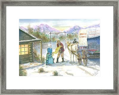 First Snow - Last Call Framed Print by Dan Bozich