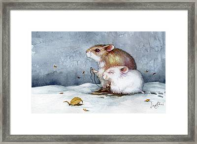 First Snow Framed Print by Janet Chui