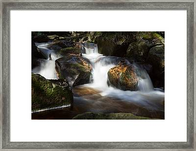 first spring sunlight on the Warme Bode, Harz Framed Print by Andreas Levi