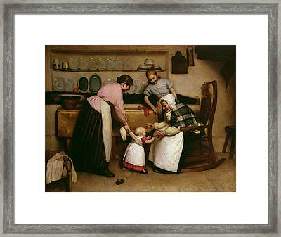 First Steps Framed Print by George Hall Neale