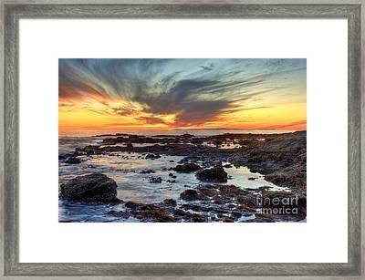 First Sunset Of 2016 Framed Print by Eddie Yerkish