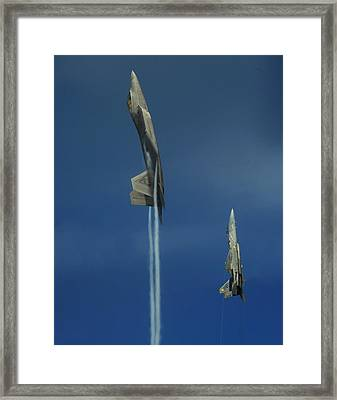 First To The Top Wins Framed Print by Aviation Heritage Press