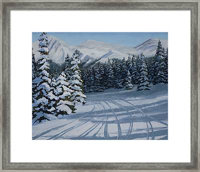 First Tracks Framed Print by Mary Giacomini