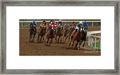 First Turn At Keeneland Framed Print by Angela G