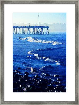 First Up Framed Print by Ron Regalado