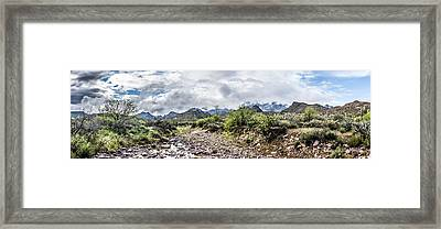 First Water Creek Panoramic Framed Print by Chuck Brown