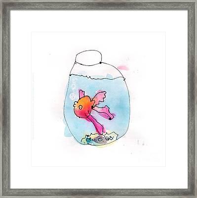 Fish Framed Print by Adeline Longstreth Age Six