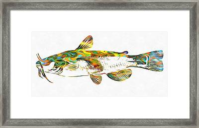 Fish Art Catfish Framed Print by Dan Sproul