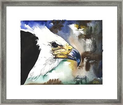 Fish Eagle II Framed Print by Anthony Burks Sr