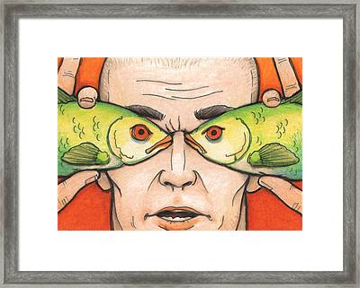 Fish Eyes Framed Print by Amy S Turner
