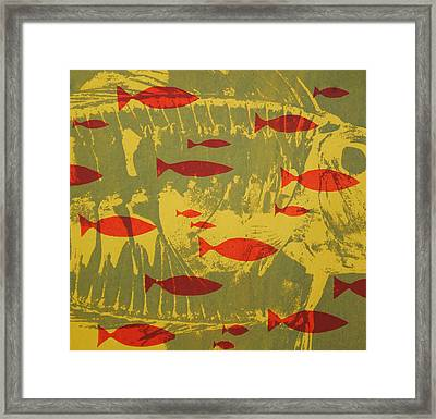 Fish For Thought Framed Print by Chris Steinken
