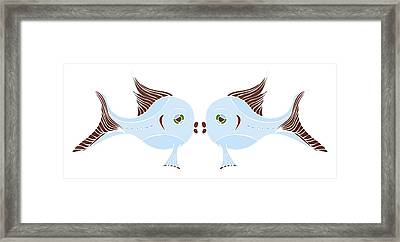 Fish Lovers Framed Print by Frank Tschakert
