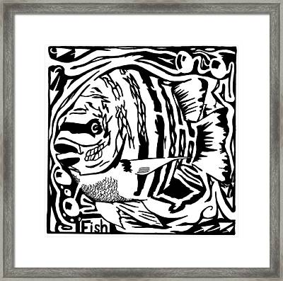 Fish Maze Framed Print by Yonatan Frimer Maze Artist