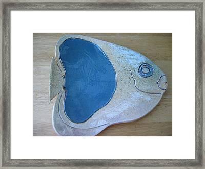 Fish Platter Framed Print by Julia Van Dine