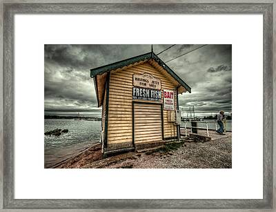 Fish Shed Framed Print by Wayne Sherriff