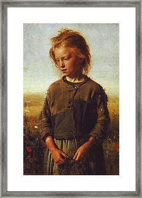 Fisher Girl Framed Print by Ilya Efimovich Repin