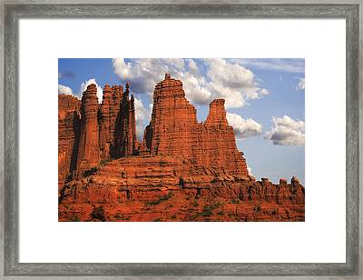Fisher Towers Framed Print by Utah Images