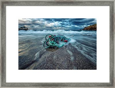 Fisherman's Blues Framed Print by Stelios Kleanthous
