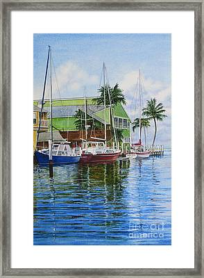 Fisherman's Village Framed Print by Karol Wyckoff