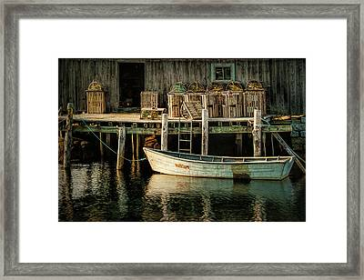 Fisherman's Wharf At Peggy's Cove Framed Print by Randall Nyhof