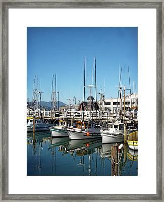 Fisherman's Wharf Framed Print by Julie Palencia