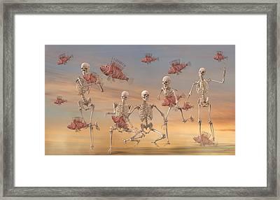 Fishermen Never Give Up By Betsy C Knapp Framed Print by Betsy C Knapp