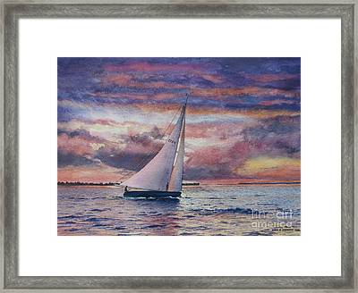 Harbor Sunset Framed Print by Karol Wyckoff