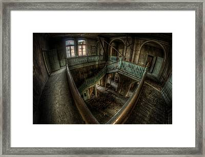 Fisheye From Above Framed Print by Nathan Wright