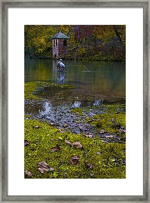 Fishing At The Spring Framed Print by Mitch Spence