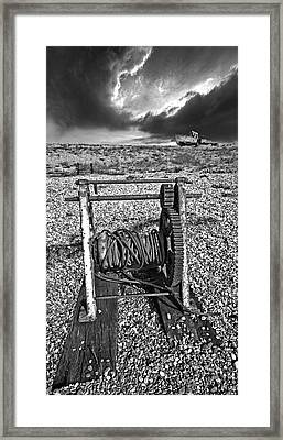 Fishing Boat Graveyard 8 Framed Print by Meirion Matthias
