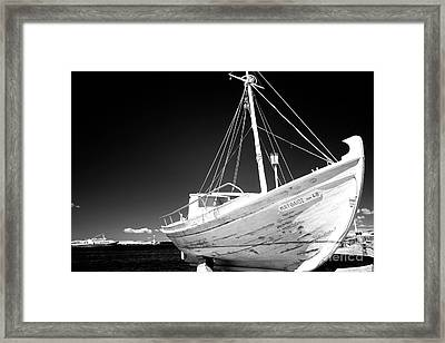 Fishing Boat Infrared Framed Print by John Rizzuto