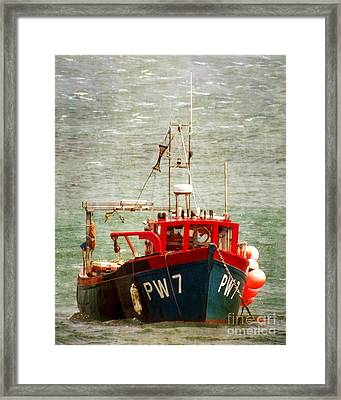 Fishing Boat  Framed Print by Linsey Williams