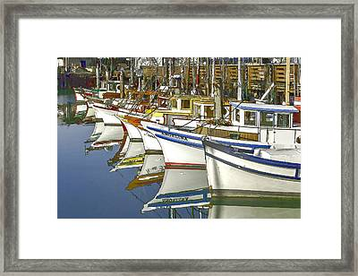 Fishing Boats At Fisherman's Wharf Framed Print by Bill Gallagher