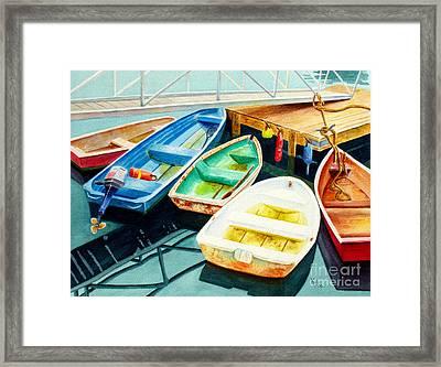 Fishing Boats Framed Print by Karen Fleschler