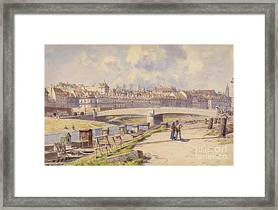 fishing boats on the Danube Canal Vienna Framed Print by Celestial Images