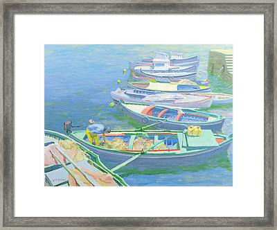 Fishing Boats Framed Print by William Ireland