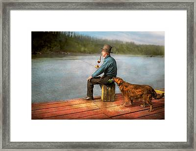 Fishing - Booze Hound 1922 Framed Print by Mike Savad